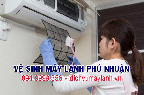 vệ sinh máy lạnh quận phú nhuận